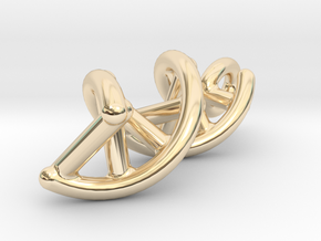 DNA necklace pendant in 14K Yellow Gold