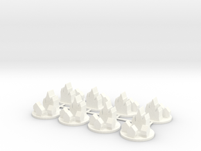 Custom Order 8 Medieval Cities in White Strong & Flexible Polished