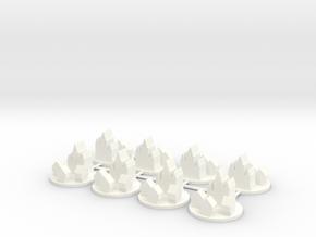 Custom Order 8 Medieval Cities in White Processed Versatile Plastic