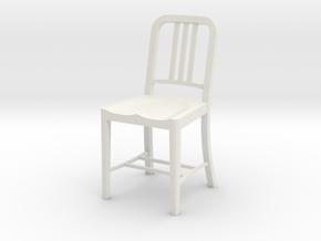 1:12 Metal Chair in White Natural Versatile Plastic
