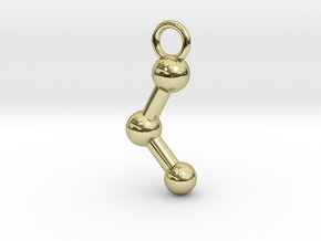 Ethanol Molecule Necklace Keychain Earring in 18k Gold Plated Brass