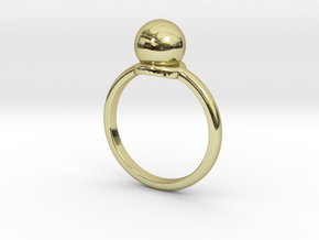 Ring Sphere in 18k Gold Plated Brass: 6 / 51.5