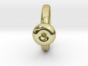 Torus Ring in 18k Gold Plated: 6 / 51.5