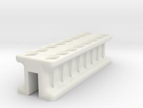 8-Tube PCR Strip Magnetic Concentrator Stand V1 in White Natural Versatile Plastic