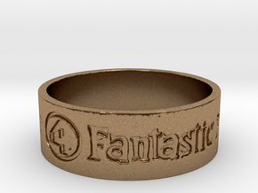 Fantastic Four Title Engraved Size 12 in Natural Brass: 12 / 66.5