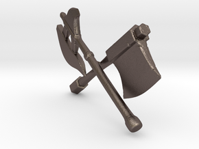 Weapons In Arms (Shielded) in Polished Bronzed Silver Steel: Medium