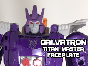 Galvatron Face, Helmet Sized (Titans Return) in White Natural Versatile Plastic
