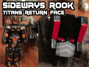 Sideways Rook Face (Titans Return) in Smooth Fine Detail Plastic