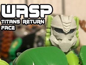 Wasp Face (Titans Return) in Black Hi-Def Acrylate