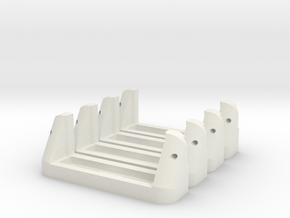 Servoholder-23mm-1-4pieces in White Strong & Flexible