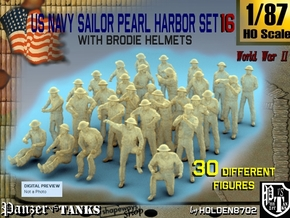 1-87 US Navy Pearl Harbor Set 16 in Smooth Fine Detail Plastic