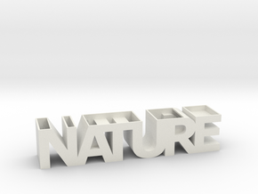 NATURE Planter V1.1. (14 cm or 19 cm) in White Natural Versatile Plastic: Small