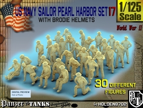 1-125 US Navy Pearl Harbor Set 17 in Smooth Fine Detail Plastic