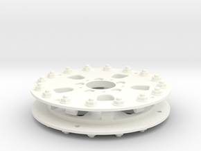 1/10 RC Car Wheel Hutchinson Caps v.2 in White Processed Versatile Plastic