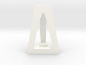 Decoration Stand in White Processed Versatile Plastic