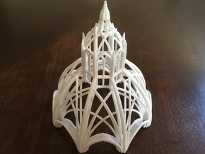 Gothic Chapel 2 Upper in White Natural Versatile Plastic