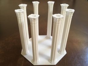 Gothic Chapel 2&3 Base in White Natural Versatile Plastic