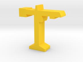 Game Piece, Construction Crane in Yellow Processed Versatile Plastic
