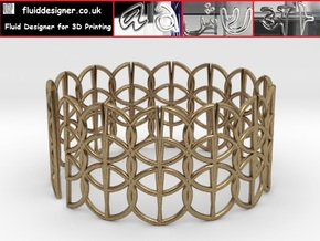 Enneper Curve Bracelet in Natural Brass