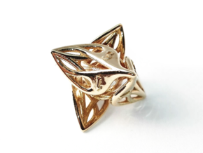 Curlicue 8-Sided Gaming Dice in Polished Brass