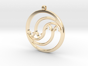 Pendant Tranquille in 14k Gold Plated Brass: Medium