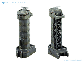 Watchtower - BATTLEGROUND HD in Smooth Fine Detail Plastic