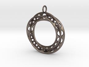 Mobius Band Ø30mm / Enhanced Loop in Polished Bronzed Silver Steel