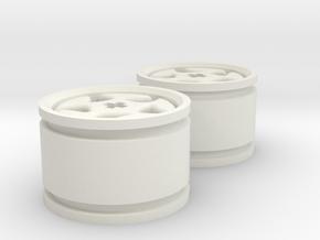 5-spoke rims 30mmØ model2 in White Natural Versatile Plastic