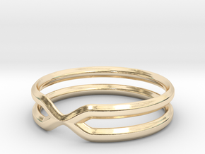 Double Ring in 14K Yellow Gold: 7.5 / 55.5