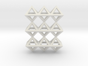 18 Pendant. Perfect Pyramid Structure. in White Natural Versatile Plastic