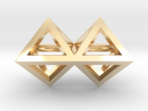 4 Pendant. Perfect Pyramid Structure. in 14K Yellow Gold