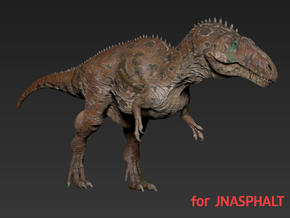 Acrocanthosaurus (Medium / Large size) for JNASPHA in White Natural Versatile Plastic: Medium