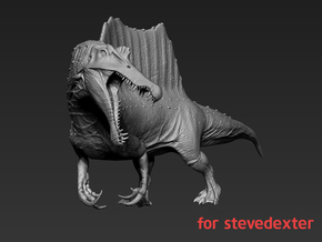 Spinosaurus(71% smaller) for stevedexter in White Natural Versatile Plastic