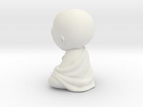 Sleeping laziness Buddha statue in White Natural Versatile Plastic