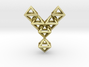 Y Letter Pendant. All Alphabet on demand. in 18k Gold Plated Brass