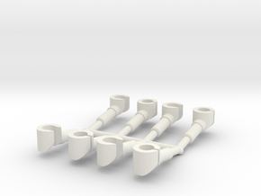 4 pairs customized hands for mini-figures.  in White Strong & Flexible