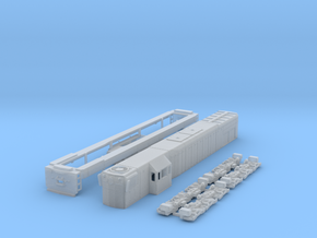 N scale G16 spartan cab in Smooth Fine Detail Plastic
