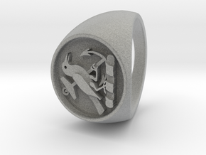 Custom Signet Ring 21 V2 in Metallic Plastic