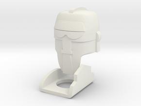 M.A.S.K Brad Lego minifigure custom helmet in White Strong & Flexible