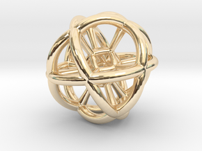 The Sphere in 14k Gold Plated Brass