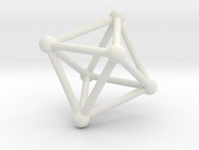 UNIVERSO Octahedron 28mm in White Natural Versatile Plastic