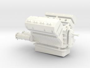 AJPE Hemi 1/12 dual plugs in White Strong & Flexible Polished