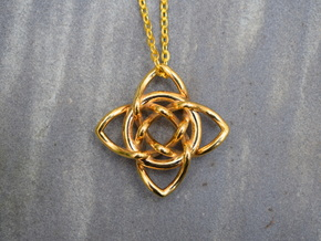 Quaternary Pendant in 18k Gold Plated Brass