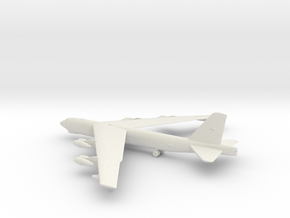 Boeing B-52 Stratofortress in White Natural Versatile Plastic: 1:200