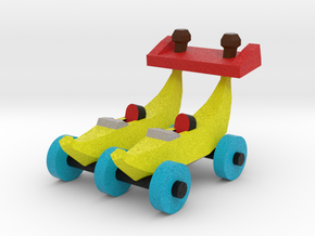 Double Banana Car in Full Color Sandstone: Small