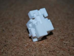 Happiness Cube in White Natural Versatile Plastic