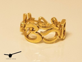 Aum Ring Size 11.25 in Polished Brass