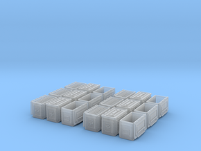 1/35+ M2 cal.50 Ammo box (18 set)  in Smooth Fine Detail Plastic: 1:30