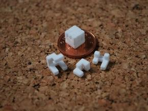 World's smallest cube in White Strong & Flexible