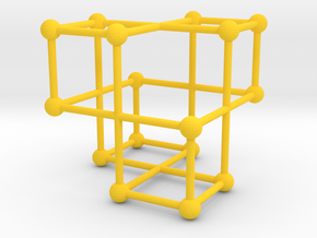 xyz Projective Plane in Yellow Processed Versatile Plastic
